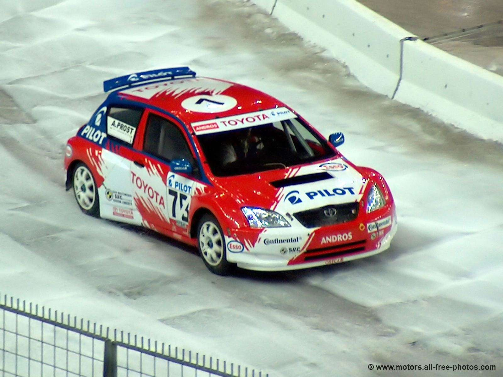 A. Prost on Toyota Corolla