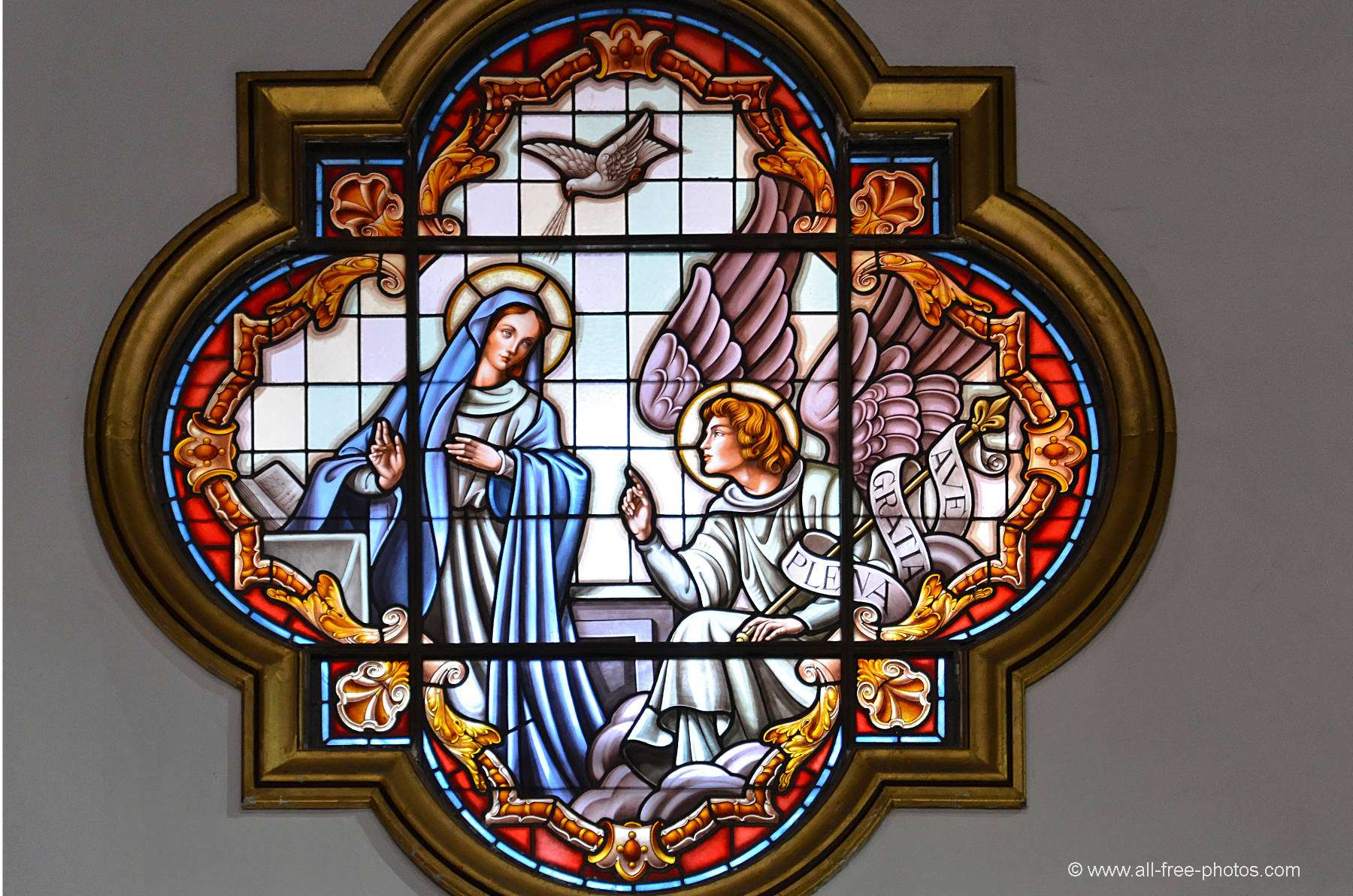 Stained glass - Basilica of the Virgin of Candelaria - Tenerife - Canary Islands