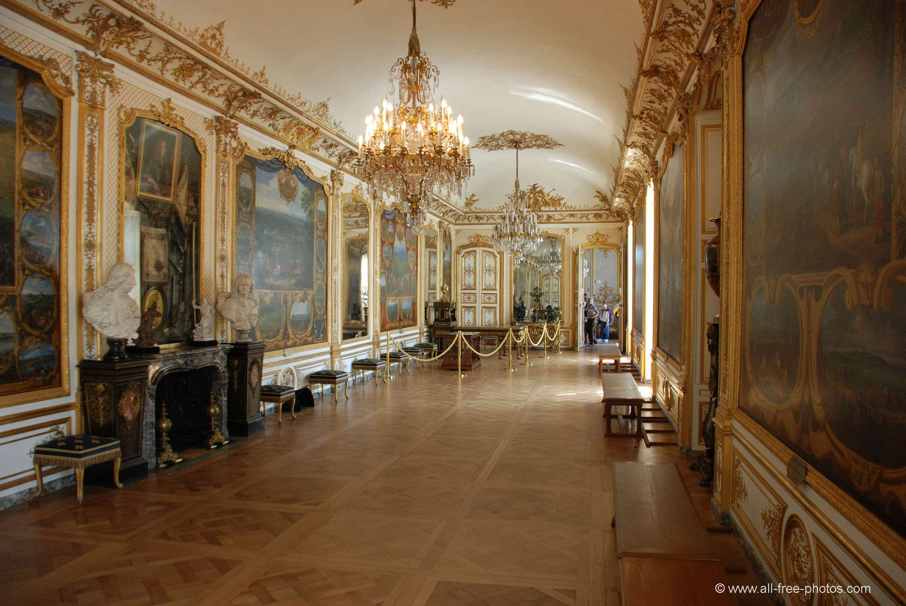 Gallery of the Battles - Castle of Chantilly - France