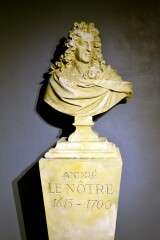 Bust of Andr� Le N�tre - Chateau of Vaux-le-Vicomte - France