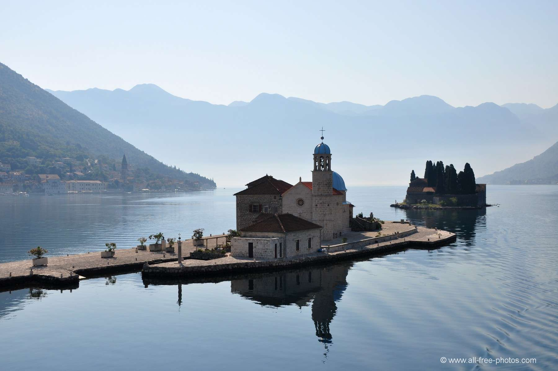 St. Georg Island and Our-Lady-of-the-Reef - Gulf of Kotor - Montenegro