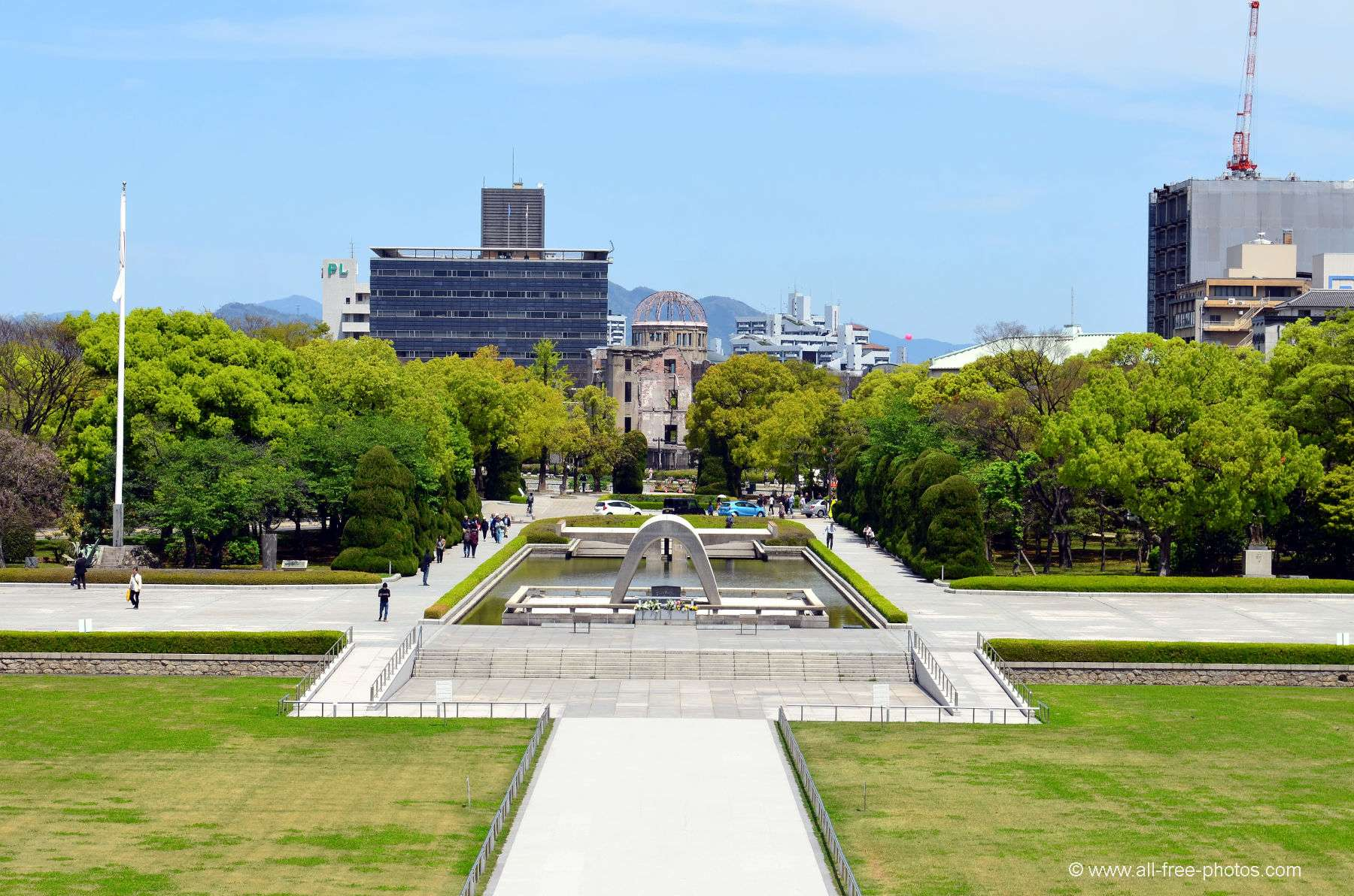 Friedensdenkmal - Hiroshima - Japan
