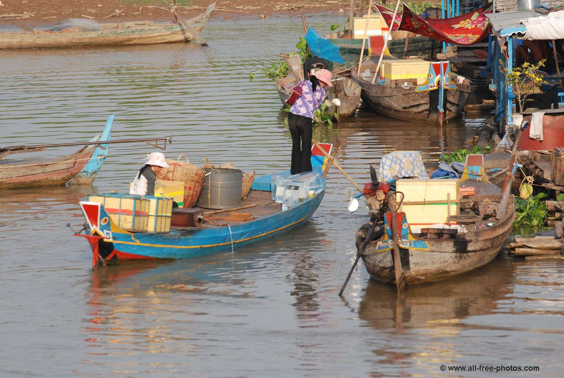 Daily life on the Mekong - Cambodia