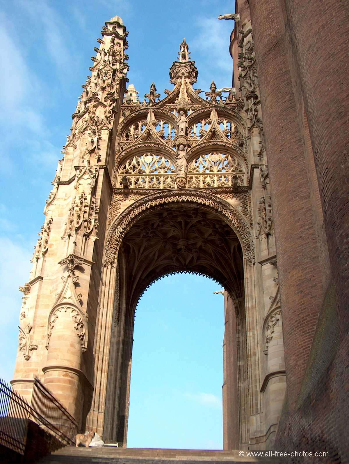Porch of the Ste Cécile cathedral - Albi - France