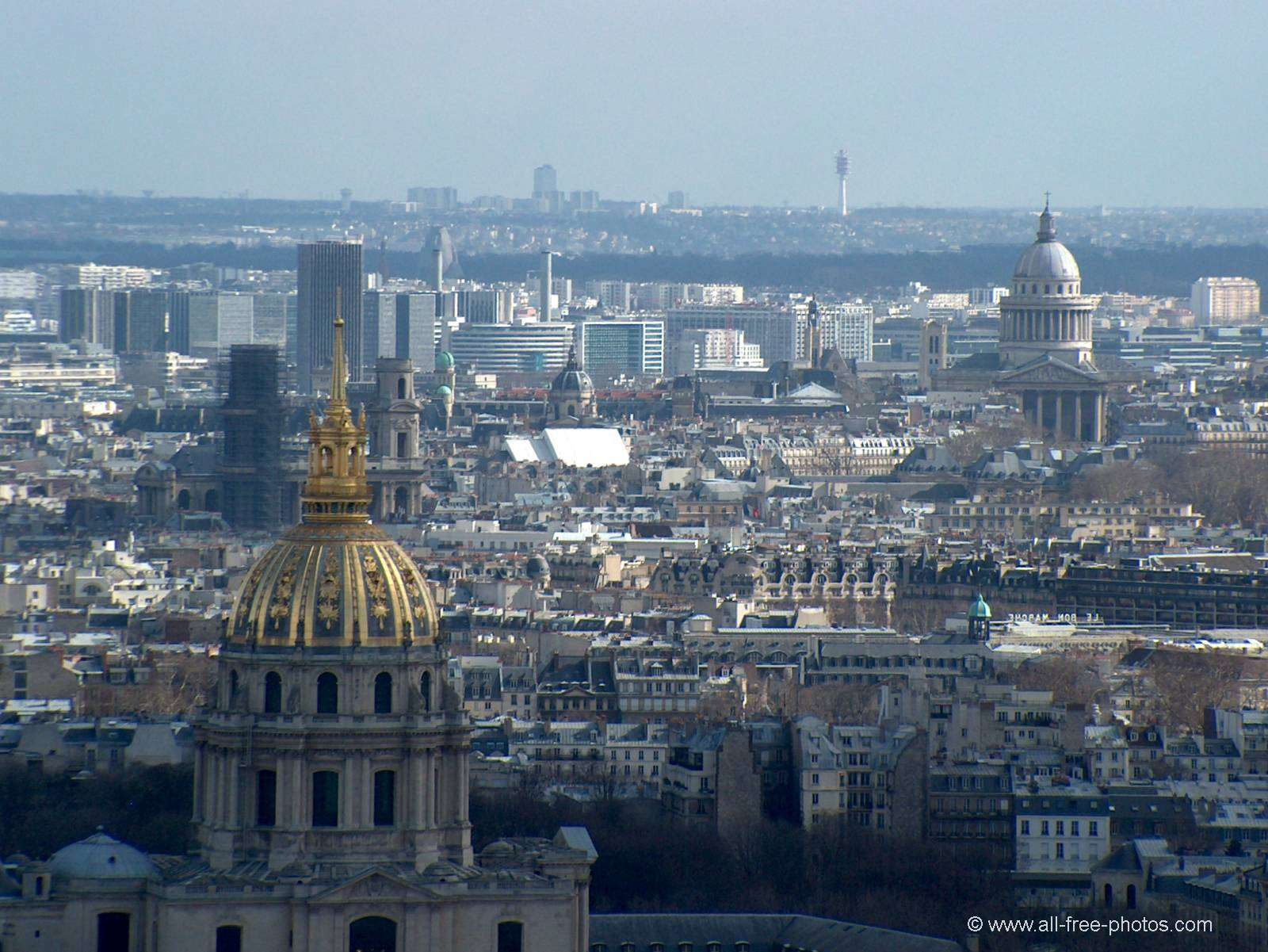 The Invalides dome and the Panthéon - Paris - France