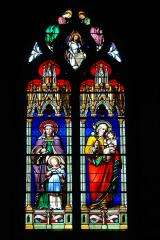 Stained glass - Church Notre-Dame of the Assumption - La Guerche de Bretagne - France