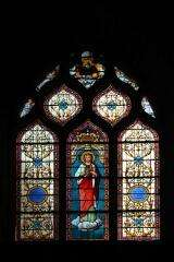 Stained glass - Church of Champeaux - France