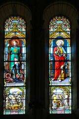 Stained glass - Church Saint Etienne des Eaux - Val d'Izé - France