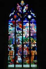 Stained glass - Church Saint Sauveur - Dinan - France