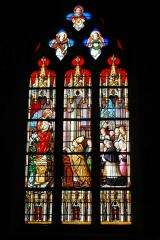 Stained glass - Basilica Notre-Dame of Enjoyment - Pontivy - France