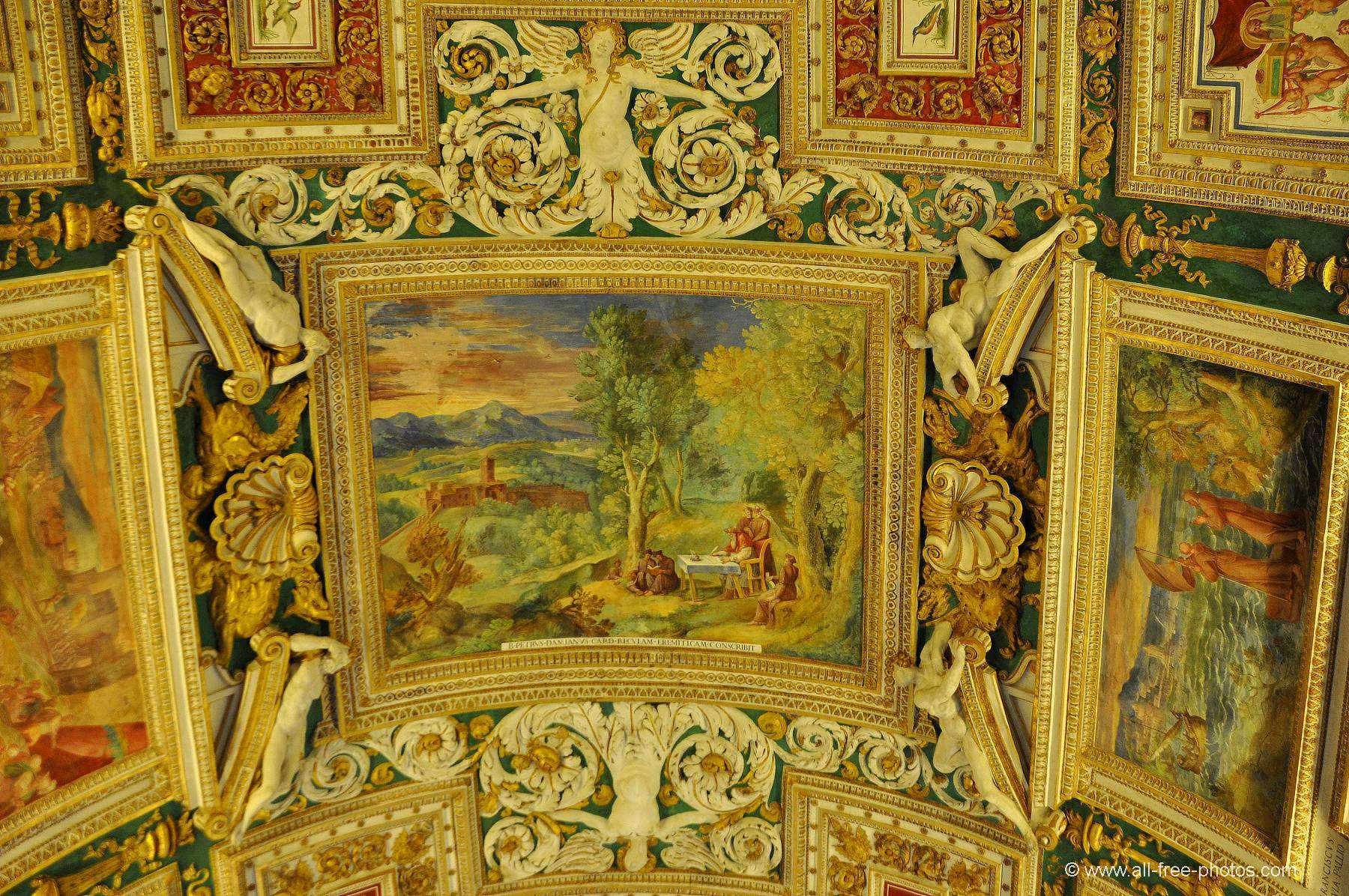 Detail of ceiling - Gallery of Maps - Vatican