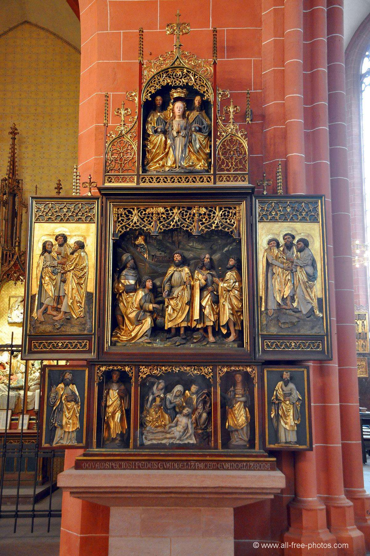 Triptych -Saint Bartholomeus's Cathedral - Frankfurt on the Main - Germany